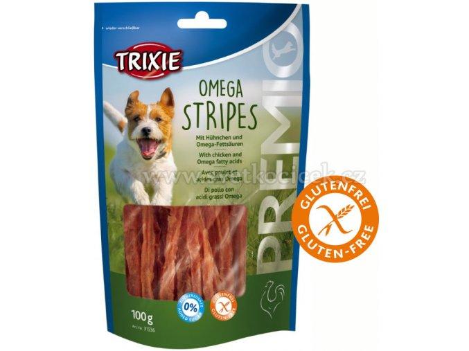Premio Omega Stripes Light 100 g - pamlsek pro psy bez cukru a lepku