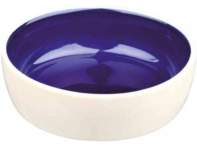 Keramická miska s modrou glazurou pro kočky 12 cm, 0,3 l