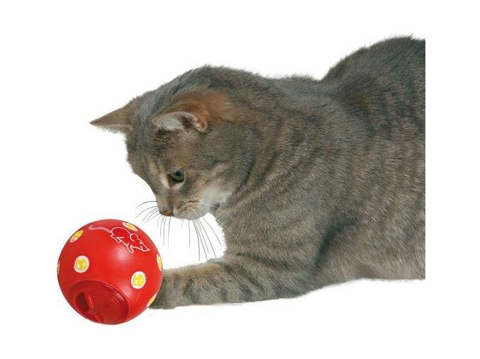 Míč na pamlsky, odměny 7 cm - hračka pro kočky