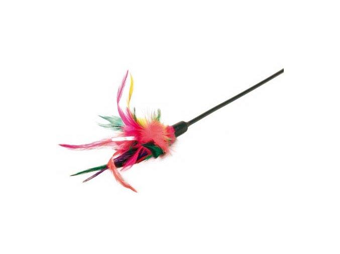 Vábnička s barevným peřím Trixie 50 cm