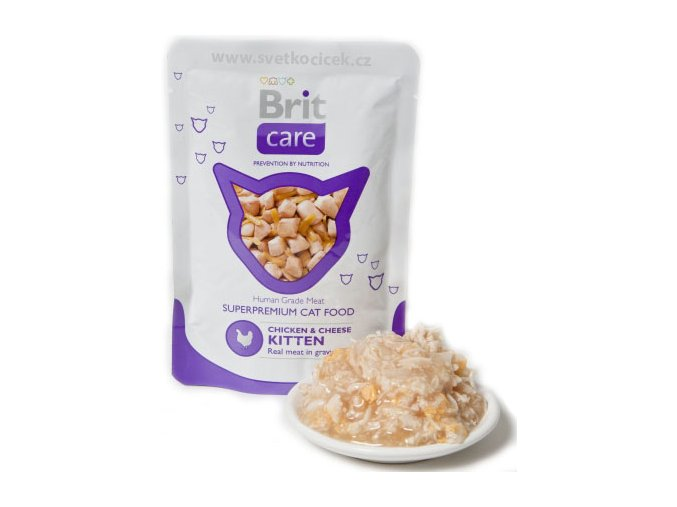 Brit Care Cat KITTEN kuře a sýr - kapsička 80 g