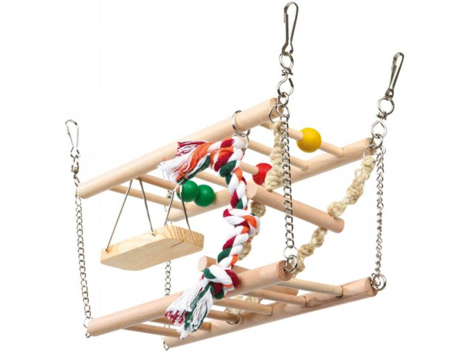 Houpačka do klece pro křečky a myši - dvě patra a hračky