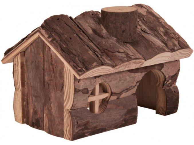 Dřevěný domeček pro myš nebo křečka Hendrik