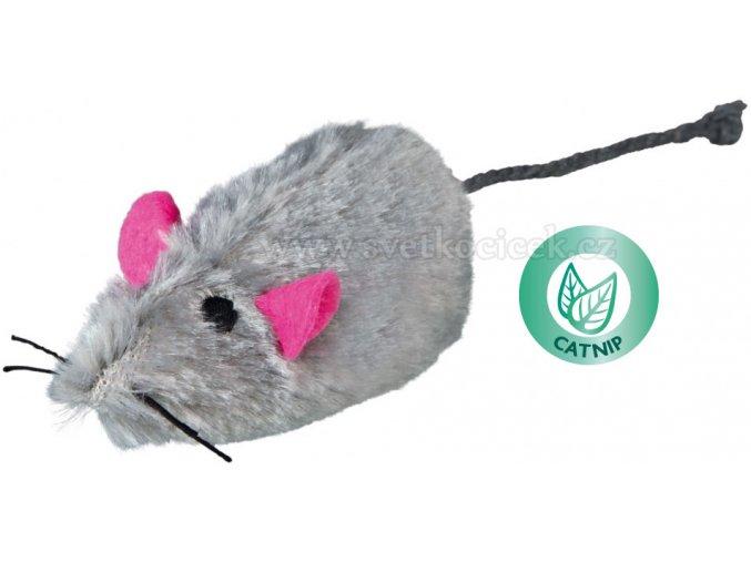 Myš velká pískací 9 cm - hračka pro kočky