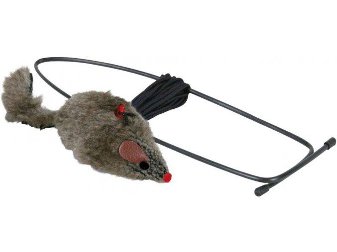 Závěsná myška na dveřní rám 8 cm - hračka pro kočky