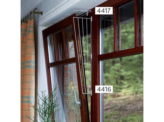Boční mříž do okna kovová 62 x 8-16 cm - 1 ks