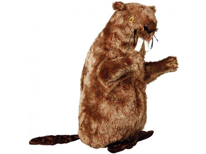 Plyšový bobr se zvířecím zvukem - chrochtající 40 cm