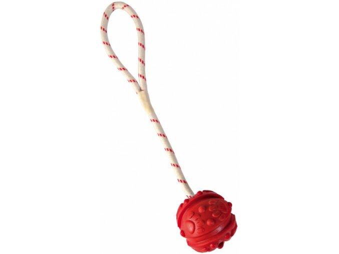 Vrhací míč pro psy na šňůře plovoucí 7 cm/35 cm