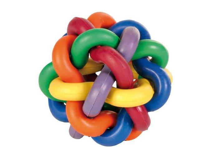 Míč uzlíkový tvrdá guma 7 cm - hračka pro psy