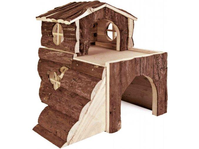 Dřevěný domeček pro morče a činčilu Bjork