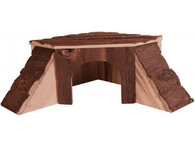 Rohový dřevěný domeček pro morče Thordis