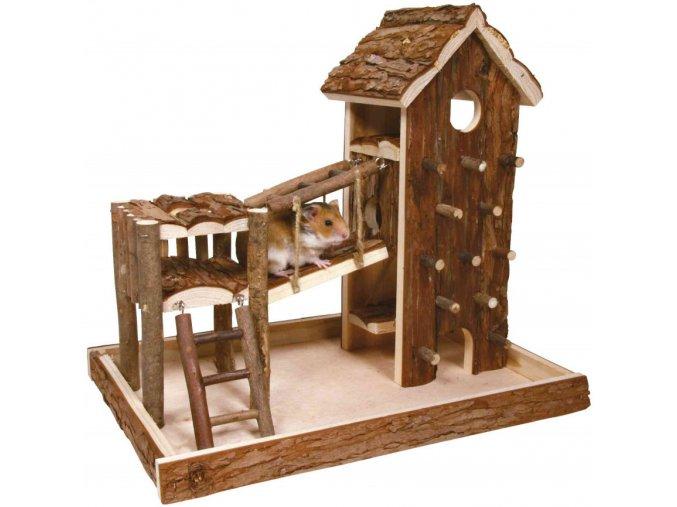 Dřevěné hřiště pro křečka nebo myš Birger