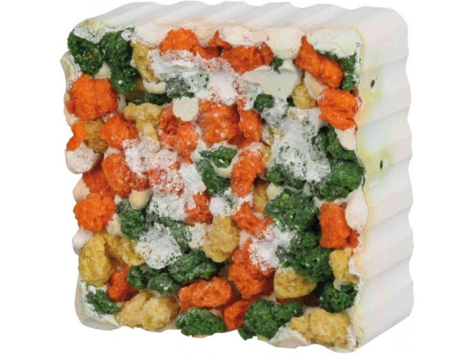 Vitamínový blok se zeleninou a řasou pro morčata a králíky 80 g