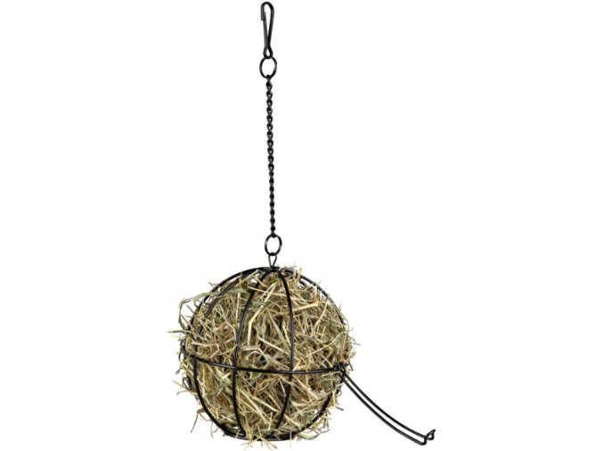 Závěsný kovový míč na potravu 12 cm