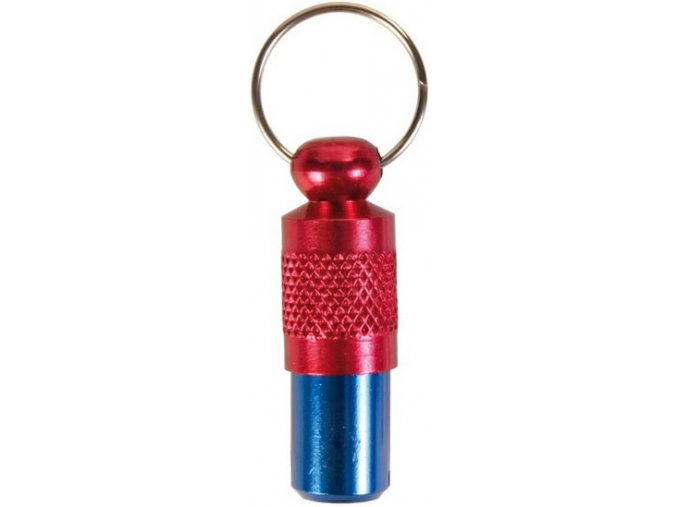 Adresář kovový červeno-modrý pro psy