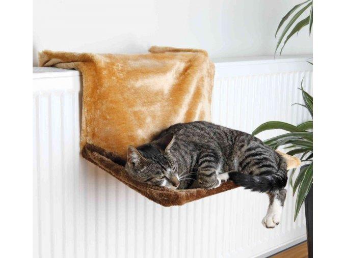 Odpočívadlo na radiátor De Luxe hnědé