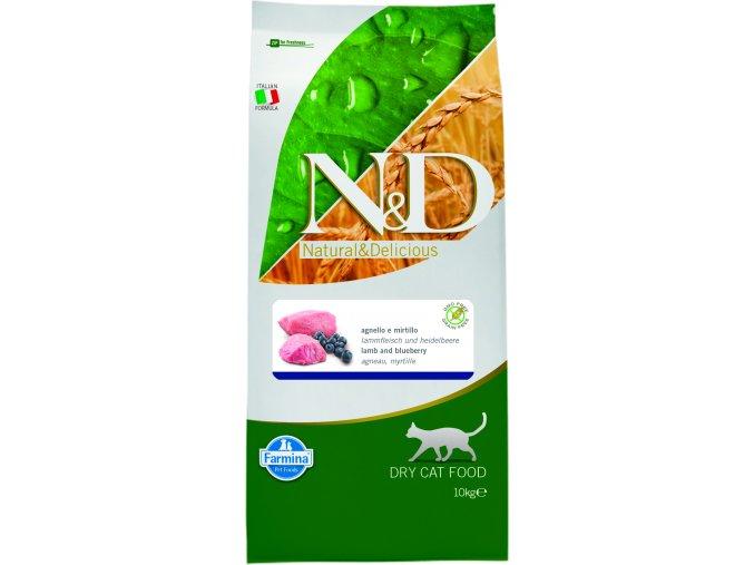N&D Prime Cat Adult Lamb Blueberry 10 kg