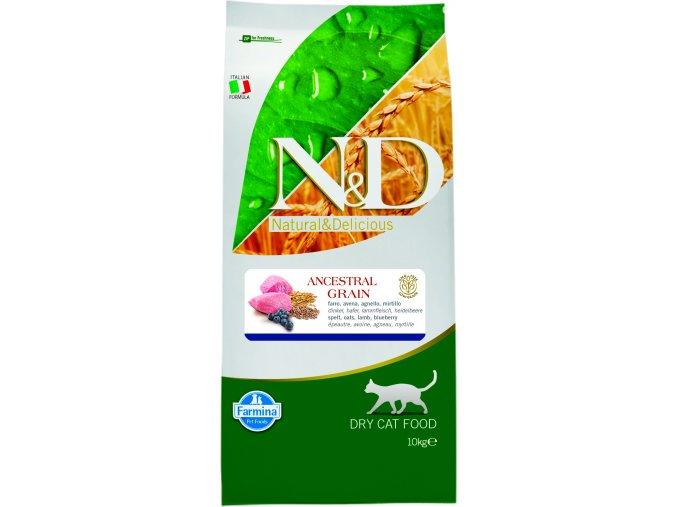 N&D Ancestral Grain Cat Adult Lamb Blueberry 10 kg
