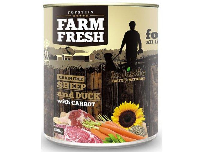 Farm Fresh ovce a kachna s mrkví - konzerva pro psy 800 g