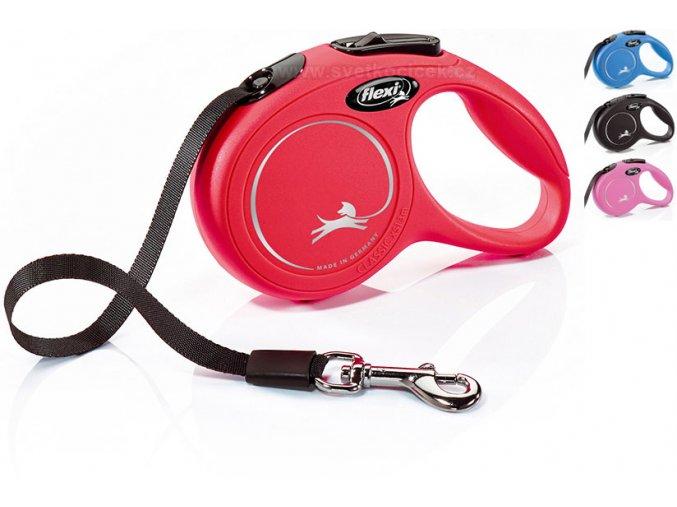 Flexi classic pásek xs 3m barvy