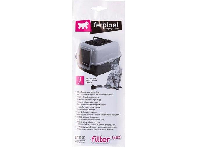 Náhradní filtr uhlíkový k WC Ferplast 7x20 cm - 3 ks v balení