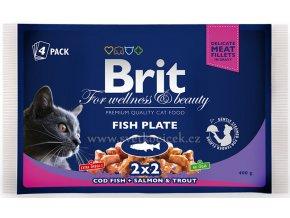Brit Premium MULTIPACK Fish Plate - kapsička 4x100 g