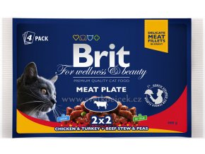 Brit Premium MULTIPACK Meat Plate - kapsička 4x100 g