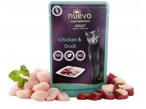 Nuevo Adult kuře a kachna - kapsička pro kočky 85 g