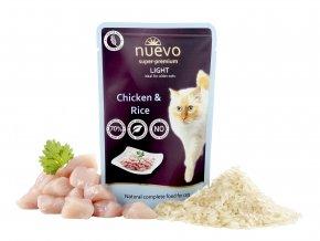 Nuevo Light kuře s rýží - kapsička pro kočky 85 g