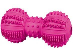 DentaFun činka přírodní tvrdá guma 9 cm - hračka pro psy a štěňata