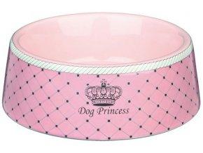 Dog Princess RŮŽOVÁ keramická miska pro fenečky 180 ml, 12 cm