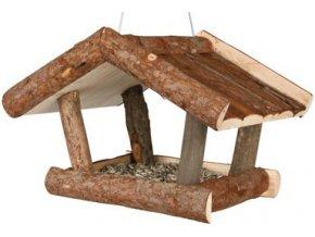 Krmítko pro ptáčky z přírodního dřeva