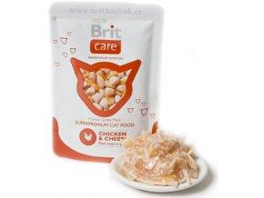 Brit Care Cat kuře a sýr - kapsička 80 g