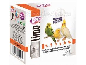 LOLOpets Lime minerální kámen pro ptáky přírodní - 2 ks, 35 g