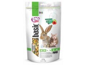 LOLOpets Basic ovocné krmivo pro králíky a křečky 600 g