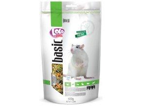 LOLOpets Basic krmivo pro potkany 600 g