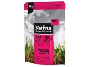 Nativia Real Meat Beef and Rice 8 kg