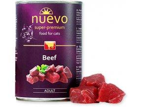 Hovězí konzerva pro kočku hodně masa