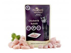 Nuevo Adult kuře a králík - kapsička pro kočky 85 g