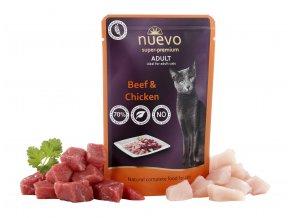 Nuevo Adult kuře a hovězí - kapsička pro kočky 85 g