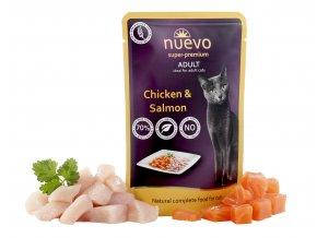 Nuevo Adult kuře a losos - kapsička pro kočky 85 g