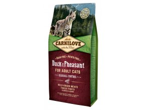 Carnilove Duck Pheasant Adult Hairball Control 6 kg