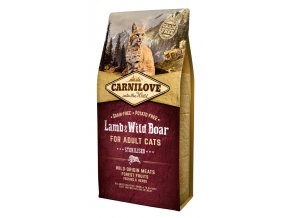 Carnilove Lamb Wild Boar Adult Sterilised 6 kg