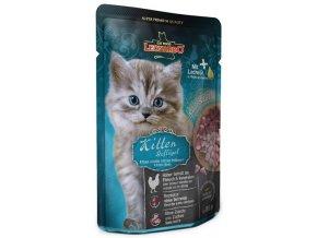 Leonardo Kitten drůbeží - kapsička pro koťátka 85 g