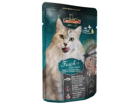 Leonardo ryby a krevety - kapsička pro kočky 85 g