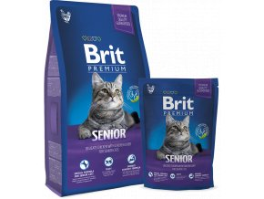 Malý balíček granulí pro kočku seniora