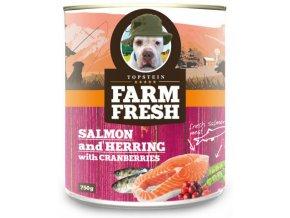 Farm Fresh losos a sleď s brusinkami - konzerva 750 g