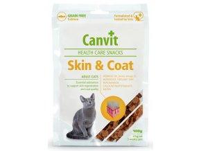 Canvit Snacks Skin & Coat - pamlsek pro kočky 100 g