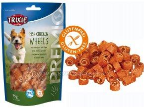 Premio Fish Chicken Wheels 75 g - pamlsky pro malé pejsky bez cukru a lepku
