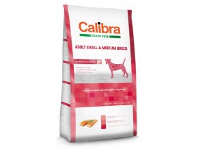 Calibra Dog Grain Free Adult Small Medium Breed 2 kg